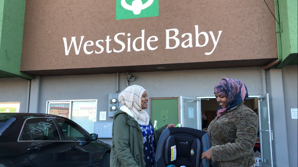 WestSide Baby providers with new car seat